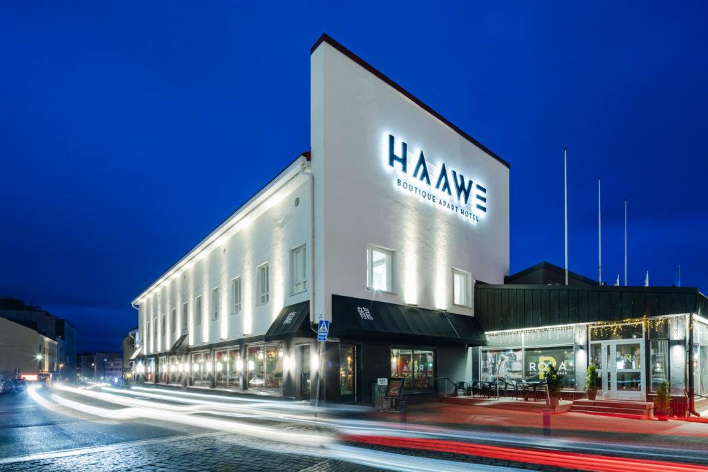 Juto Rakennus, Haawe Boutique Apart Hotel julkisivu, korjausrakentaminen